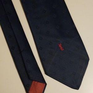 Vintage Yves Saint Laurent tie - Blue